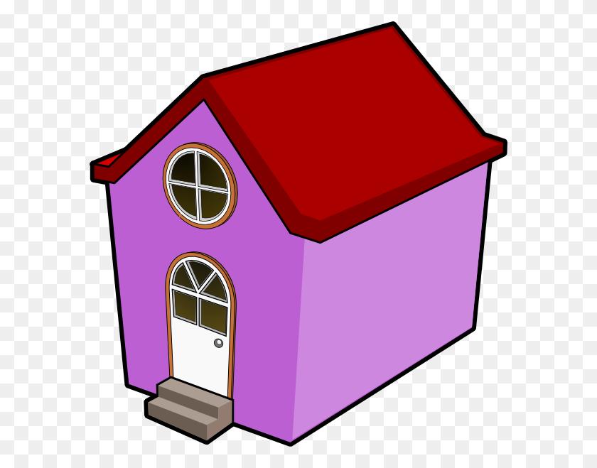 Bigredsmile A Little Purple House Clip Art Free Vector - Organic Chemistry Clipart