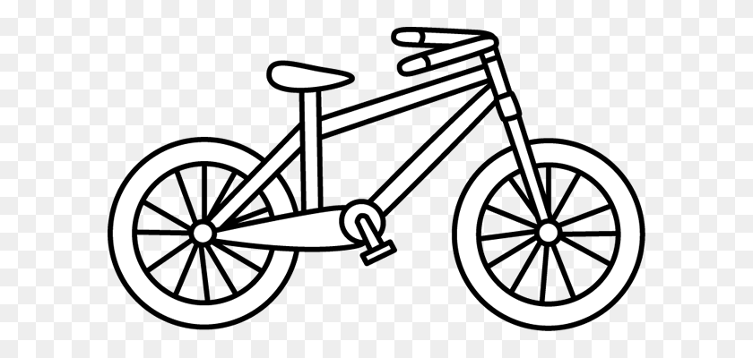 Bike Free Bicycle Clip Art Vector For Download - Gear Clipart Black And White
