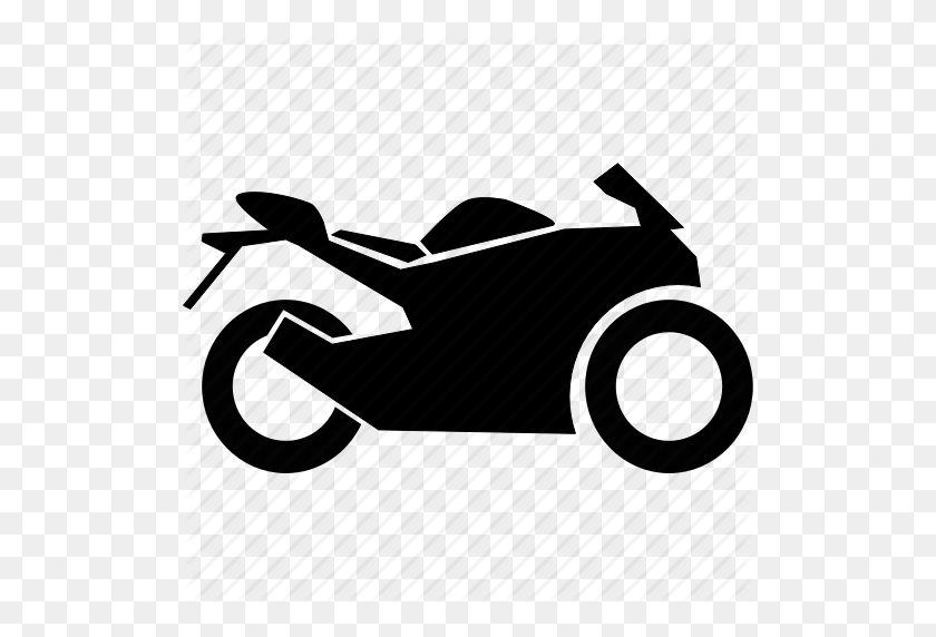 Bike, Race, Sport, Sports Bike, Two Wheeler Icon - Race Car Black And White Clipart