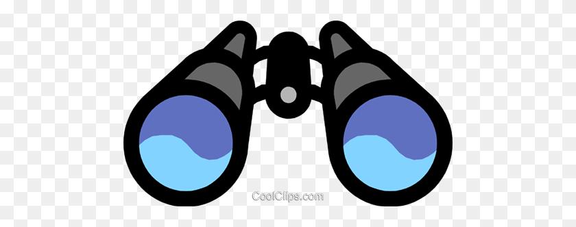 Binoculars Royalty Free Vector Clip Art Illustration - Looking Through Binoculars Clipart