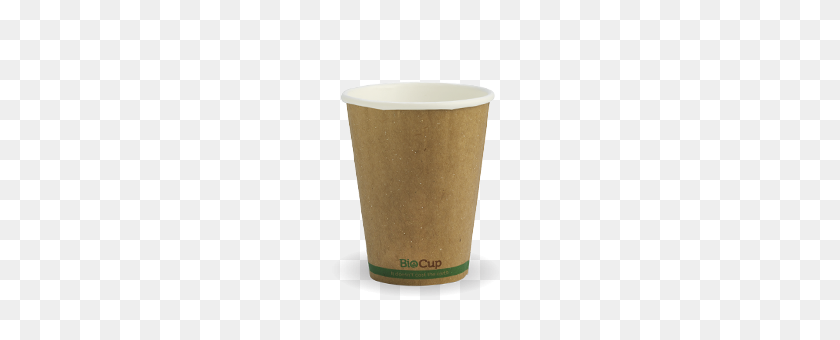 Biopak Products Double Wall Hot Cups Kraft Green Stripe Cups - Double Cup PNG