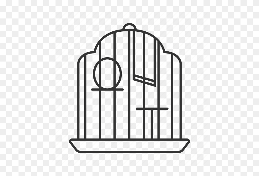 Bird, Birdcage, Cage, House, Parrot, Pet, Place Icon - Bird Cage PNG