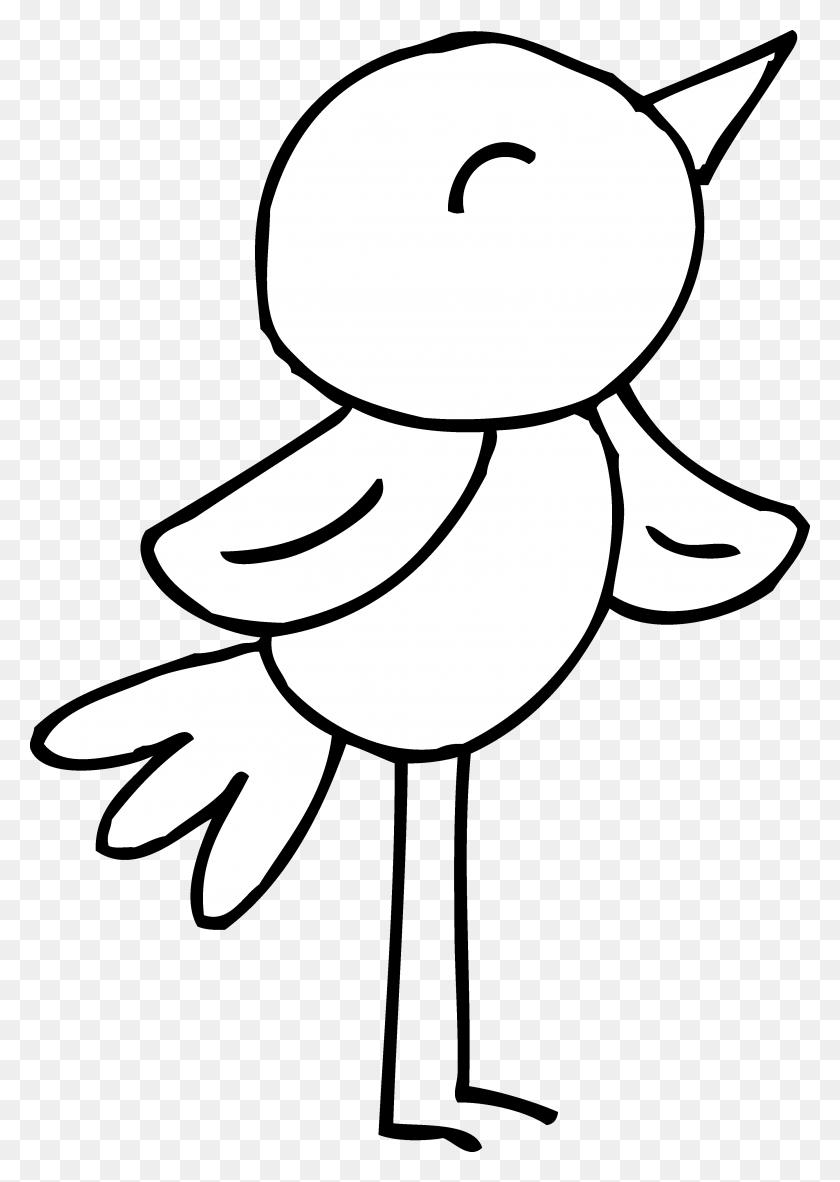Bird Clipart Black And White Black And White - White Bird Clipart