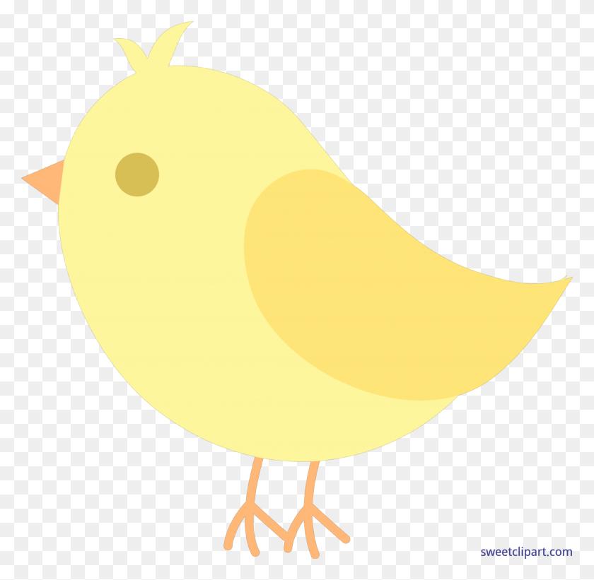 Bird Yellow Cute Clip Art - Cute Bird Clipart