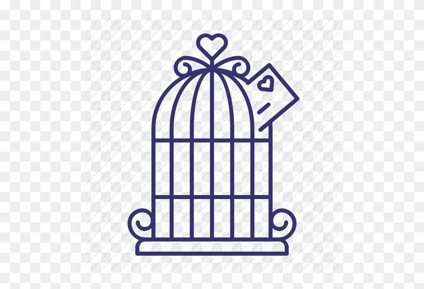 Birdcage, Cage, Envelope, Gift, Wedding Icon - Bird Cage PNG