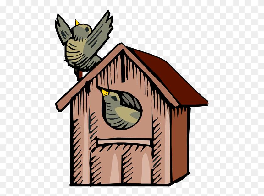 Birdhouse Clip Art Free - Bird Nest Clipart