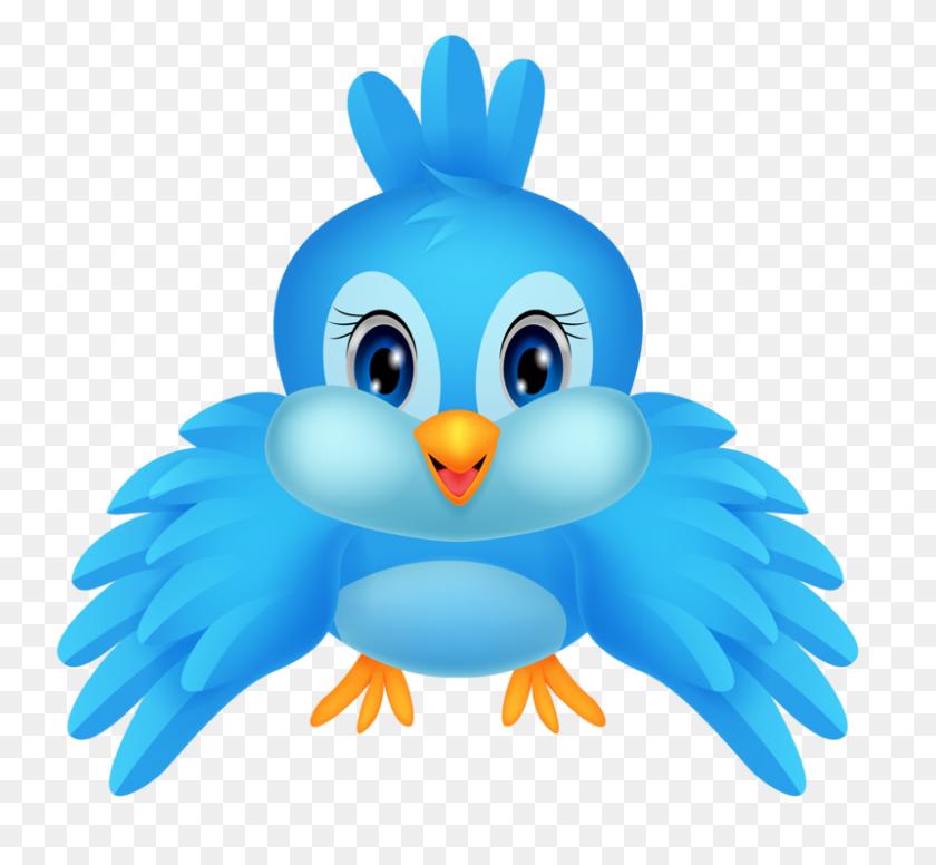 Birds, Cartoon Birds - Blue Bird Clipart