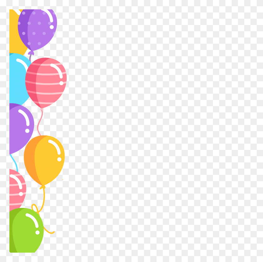 Birthday Balloons Border Png Vector Clipart Birthday