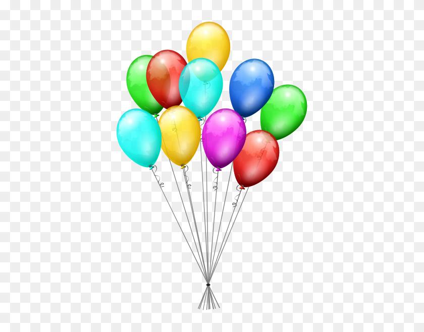 407x598 Birthday Balloons Clip Art Filexboxballoons - Free Clipart Birthday Balloons