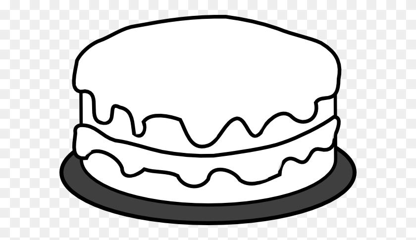 Birthday Cake Black And White Clip Art - Marshmallow Clipart Black And White