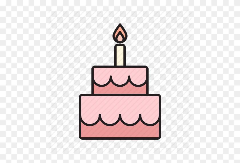 Birthday, Cake, Celebrate, Food, Sweet, Sweets, Tart Icon - Birthday Icon PNG