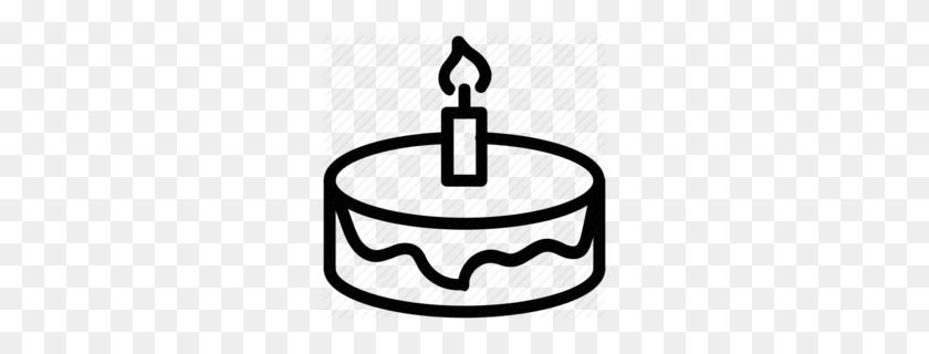 Birthday Cake Clipart - Manger Clipart Black And White
