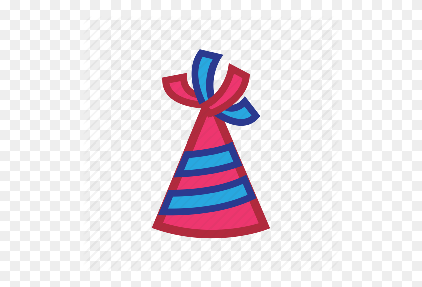 Birthday, Hat, New Year Icon - Birthday Hat PNG