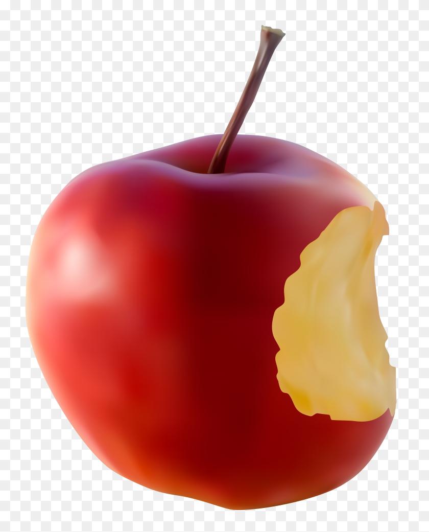 Bitten Apple Red Transparent Clip Art Gallery - Red Apple Clipart