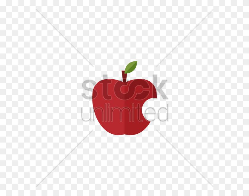 Bitten Apple Vector Image - Bitten Apple PNG