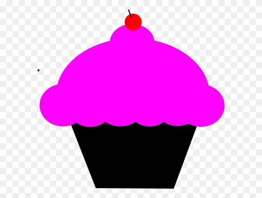 Black And Pink Cupcake Clip Art - Pink Cupcake Clipart