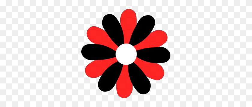 Black And Red Gerber Daisy Clip Art - Gerber Daisy Clip Art