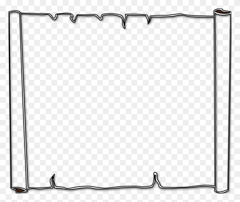 Black And White Boarder Gallery Images - Notebook Paper Clipart Background