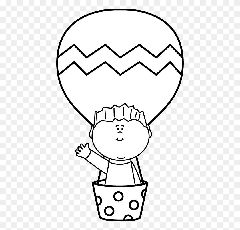 Black And White Boy In A Hot Air Balloon Clip Art Free Bulletin - Church Clipart Black And White