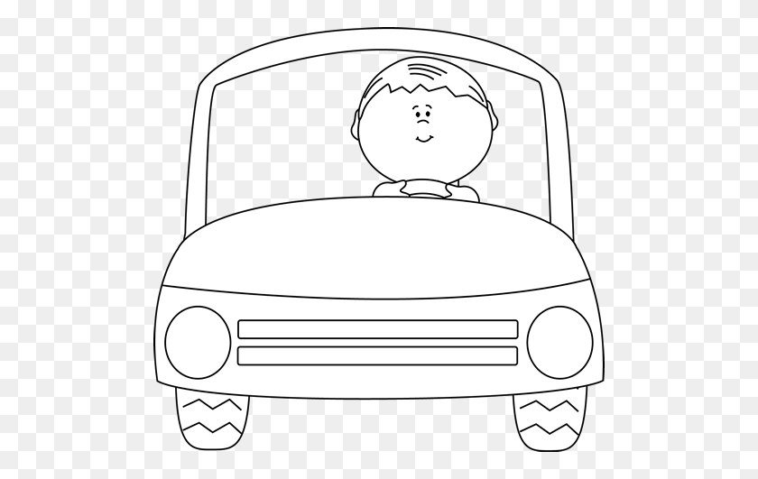 Toy Car Object Play Vehicle EYFS Black and White RGB Illustration - Twinkl