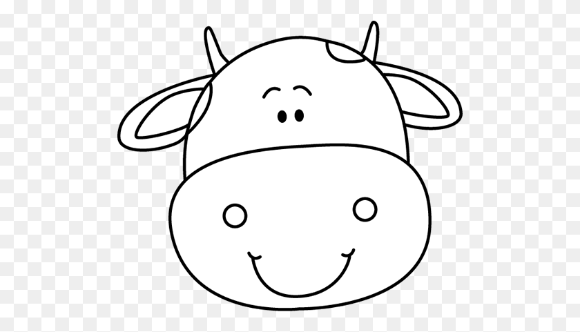 Black And White Cow Head Patterns And Templates Ve - Farm Animals Clipart Black And White