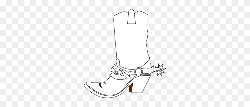 Black And White Cowboy Boot Transparent Png - Cowboy Boot Clipart Black And White