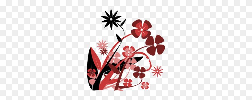 Black And White Floral Clipart - Flower Arrangement Clipart