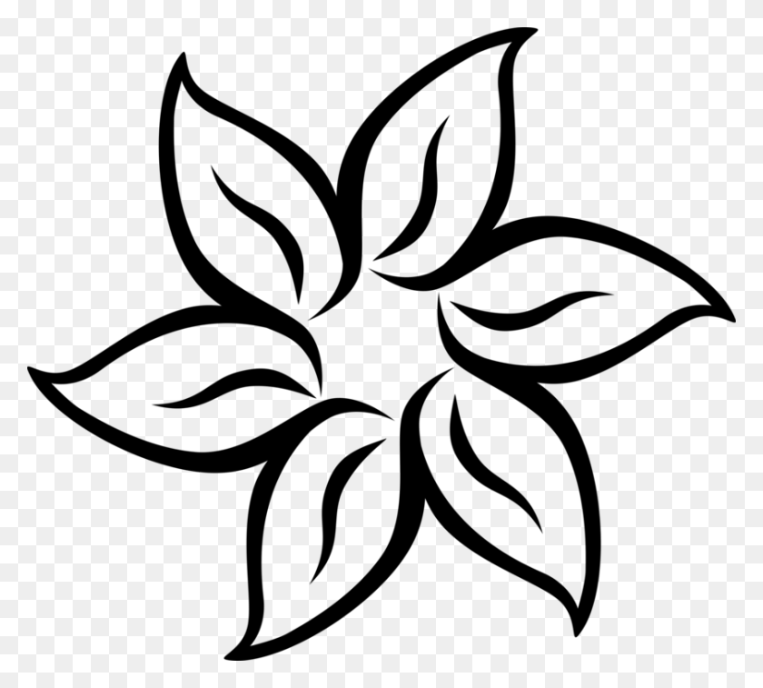 Black And White Flower Download Computer Icons - Winter Flowers Clipart