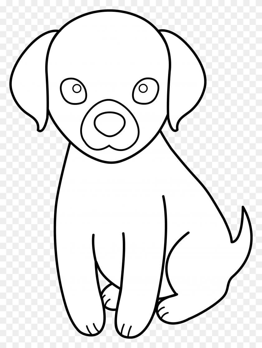 Black And White Puppy Dog House Clipart, Free Download