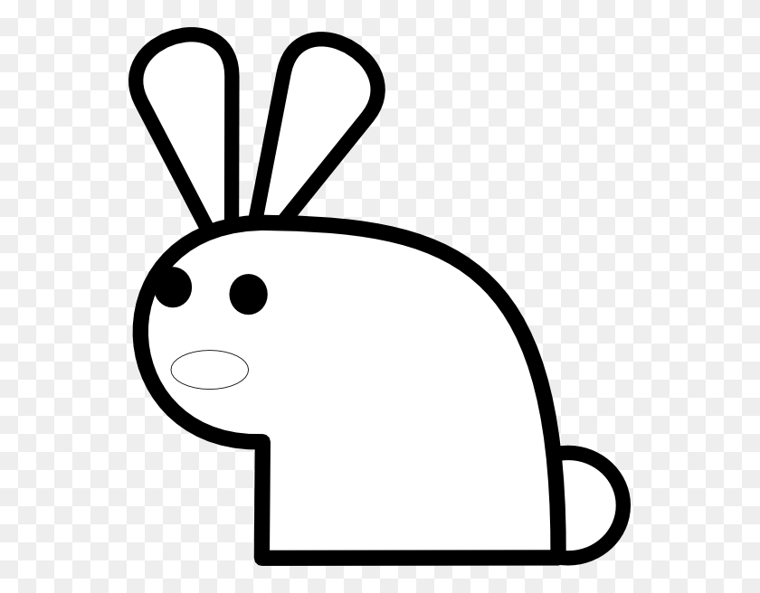 Black And White Rabbit Drawing Machovka Rabbit Black White - Rabbit Clipart Black And White