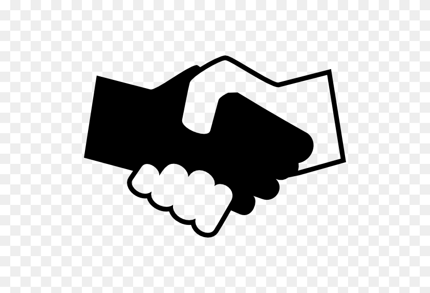 Black And White Shaking Hands - Shaking Hands PNG
