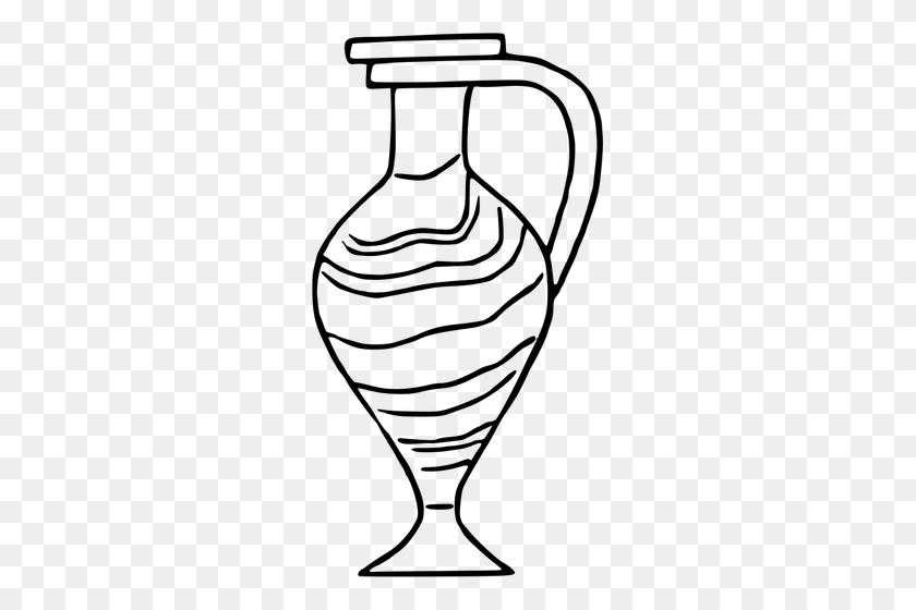 Black And White Vase Image - Vase Clipart Black And White