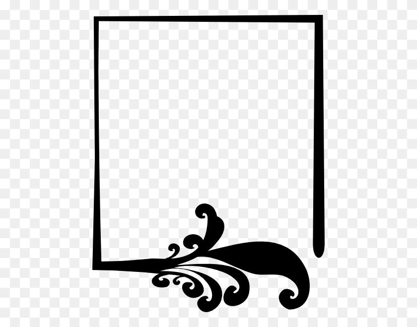468x599 Black Artistic Frame Clip Art - Artistic PNG