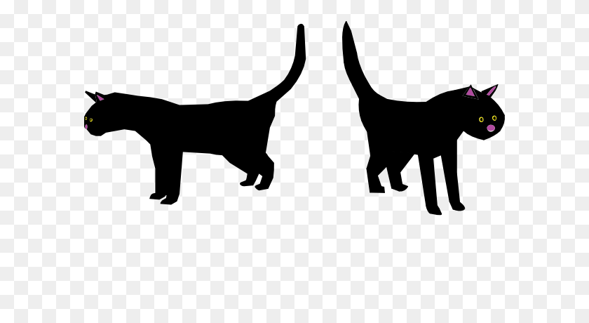 Black Cat Clip Arts Download - Cat Clipart Black And White