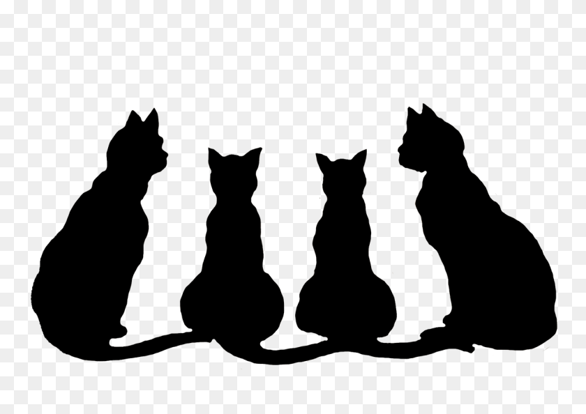 Black Cat Clipart Black Ghost - Free Halloween Clip Art Borders