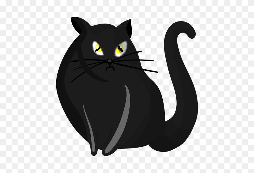 Black Cat Illustration - Black Cat PNG