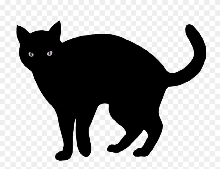 Black Cat Png Transparent Image Vector, Clipart - Black Cat PNG