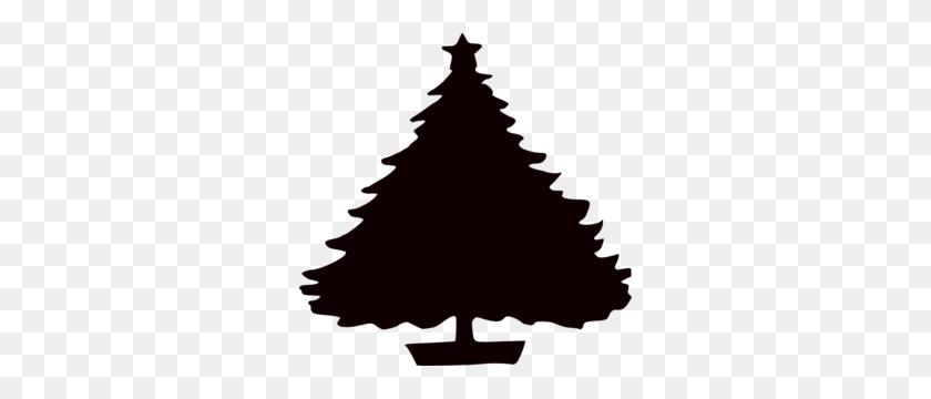 Black Christmas Tree Silhouette Clip Art - Trees Silhouette PNG