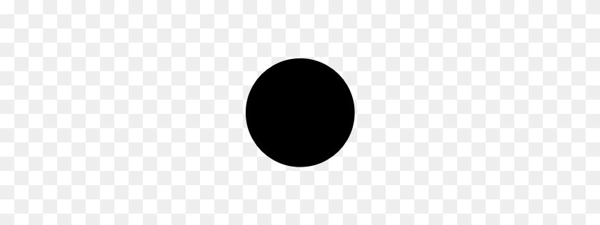Black Circle Smiley Face Unicode Character U - Black Circle PNG