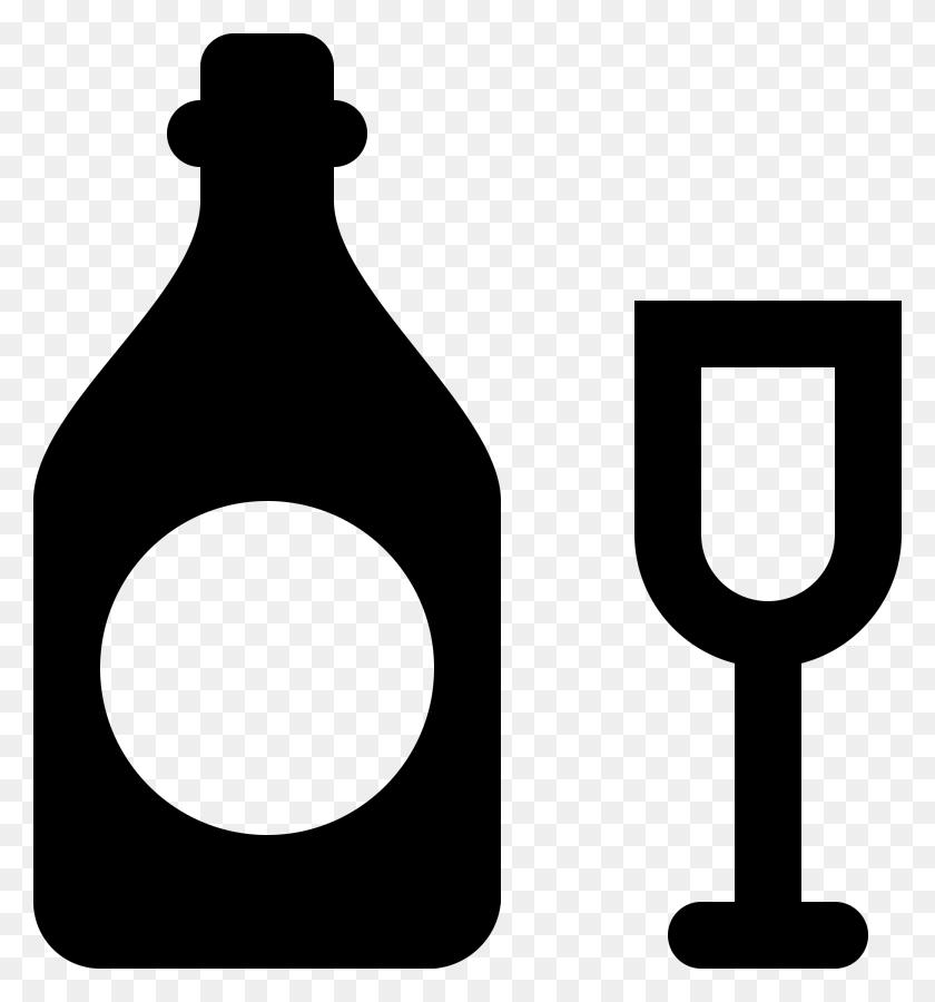Black Clipart Alcohol - Alcohol Bottle Clipart