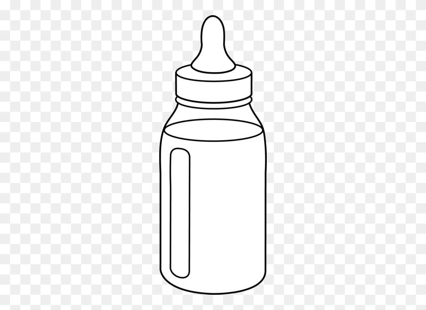 212x550 Black Clipart Baby Bottle - Mason Jar Clipart Black And White