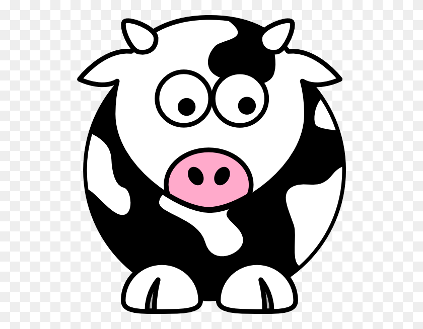 Black Cow Clip Art - Farm Animals Clipart Black And White