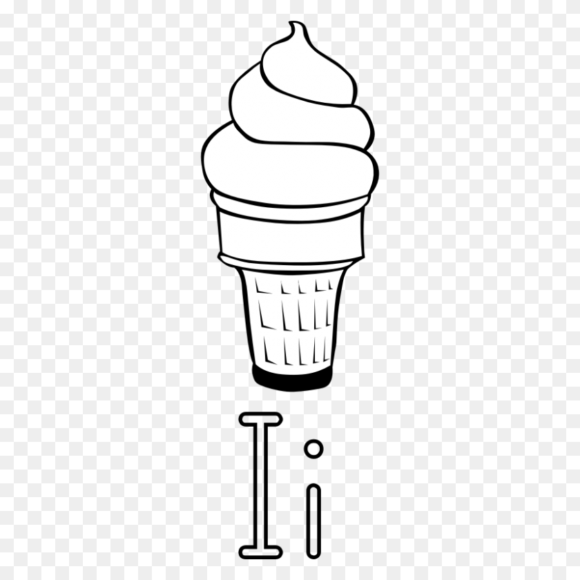 800x800 Black Cream Cliparts - Ice Cream Scoop Clipart Black And White