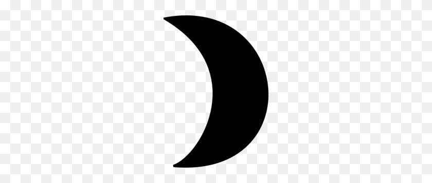 204x297 Black Crescent Moon Clip Art - Moon Black And White Clipart