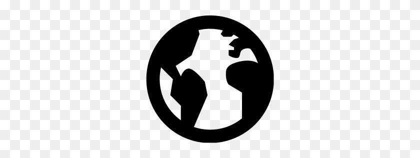 Black Globe Icon - Globe Icon PNG