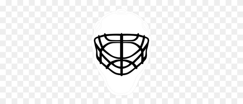 Black Goalie Mask Clip Art - Goalie Clipart