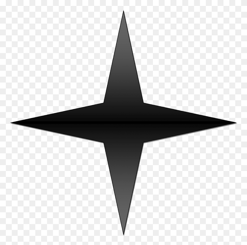 Black Gradient Point Star - Star PNG Image
