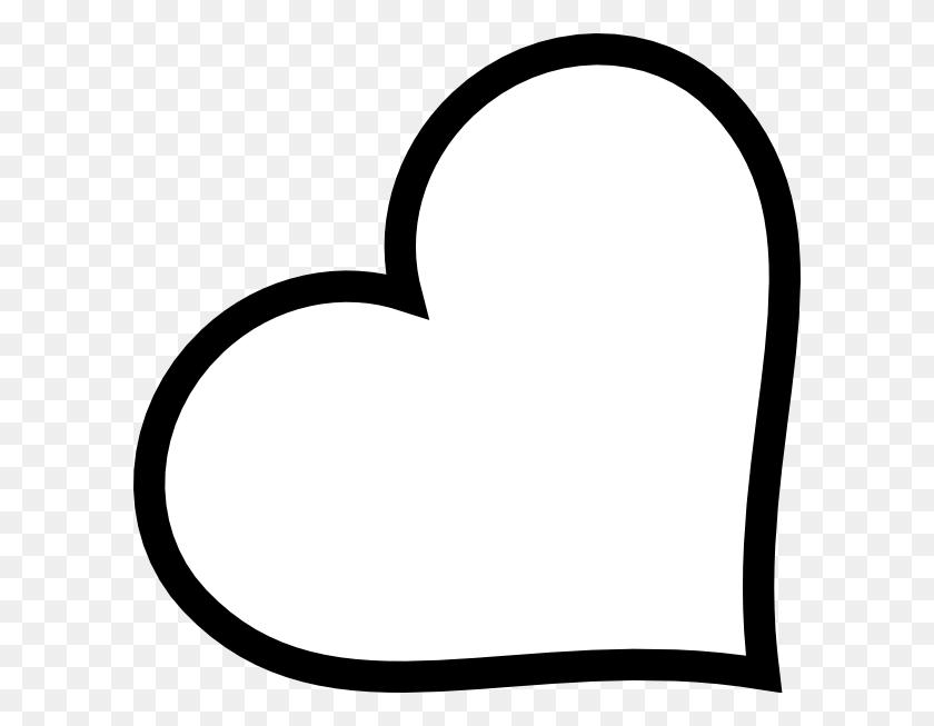 Black Heart Outlines - Free Clip Art Heart Outline