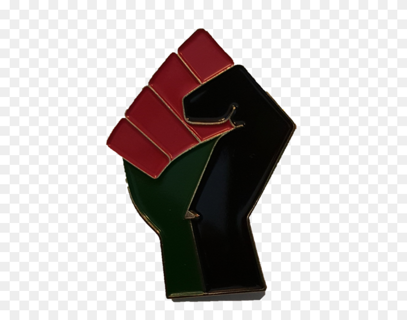 Black Liberation Lapel Pin - Black Power Fist PNG