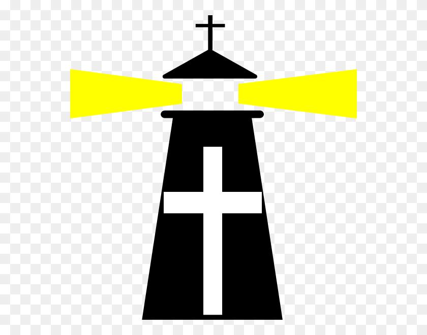 Black Lighthouse Cross Clip Art - Lighthouse Black And White Clipart